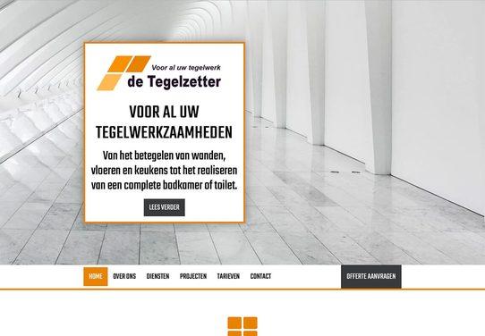 Website voorbeeld tegelzetter