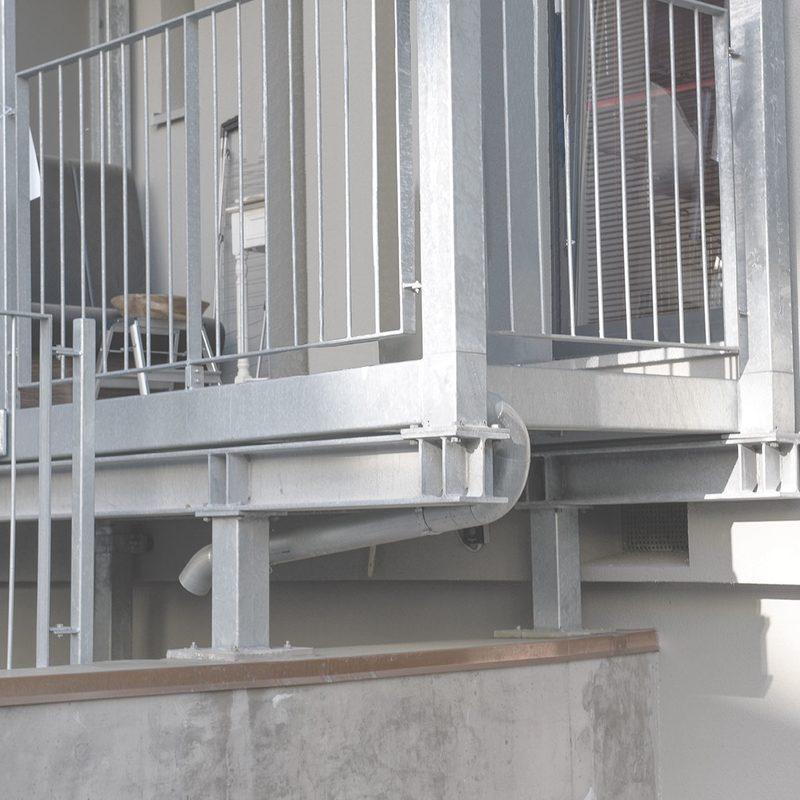 auskragende Balkonanlage