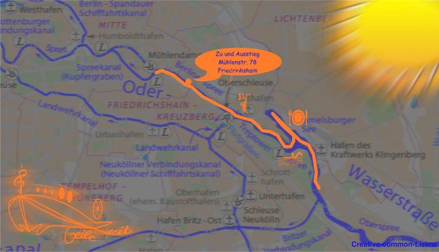 Berlin-City-Tour Übersichtskarte der Route